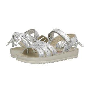 Naturino Silver Metallic Sandals